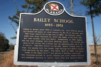 Bailey School Marker image. Click for full size.