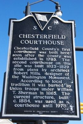 Chesterfield Courthouse Marker image. Click for full size.