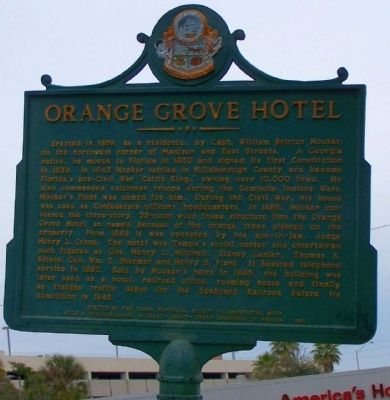 Orange Grove Hotel Marker image. Click for full size.