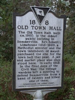 The Old Town Hall Marker image. Click for full size.