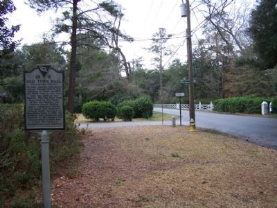 The Old Town Hall Marker as seen along West Carolina Avenue image. Click for full size.