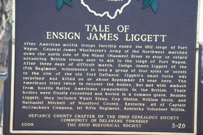 Tale of Ensign James Liggett Marker image. Click for full size.