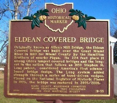 Eldean Covered Bridge Marker image. Click for full size.