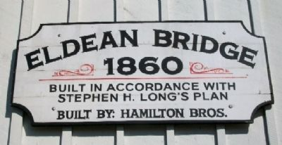 Eldean Covered Bridge Sign on West End image. Click for full size.