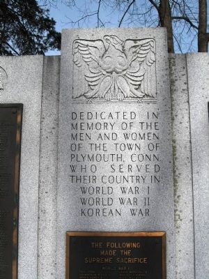 Plymouth Veterans Monument image. Click for full size.