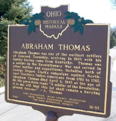 Abraham Thomas Marker (Side B) image. Click for full size.