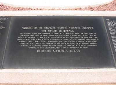 National Native American Vietnam Veterans Memorial Marker image. Click for full size.