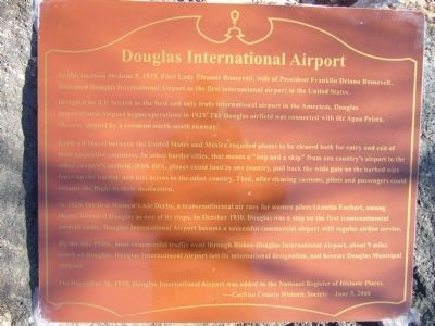 Douglas International Airport Marker image. Click for full size.