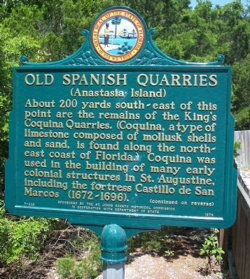 Old Spanish Quarries Marker image. Click for more information.