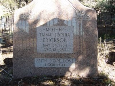 Emma Erickson Grave Site image. Click for full size.