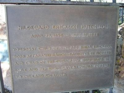 Hildegard Erickson Hutchinson Grave Site image. Click for full size.