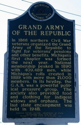Grand Army of the Republic / The G.A.R. Hall Marker image. Click for full size.