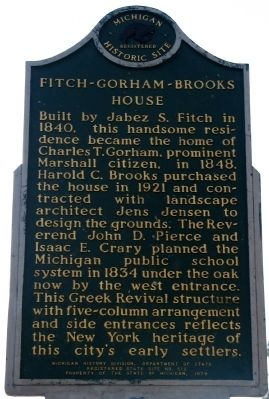 Harold C. Brooks / Fitch-Gorham-Brooks House Marker image. Click for full size.