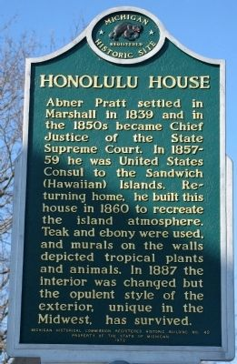 Honolulu House Marker image. Click for full size.