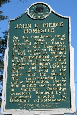 John D. Pierce Homesite Marker image. Click for full size.