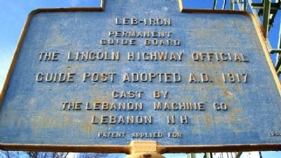 Lincoln Highway Delaware River Marker (Back) image. Click for full size.