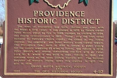 Providence Historical District Marker image. Click for full size.