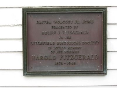 Oliver Wolcott Jr. Home Marker image. Click for full size.