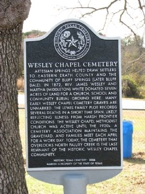 Wesley Chapel Cemetery Marker image. Click for full size.
