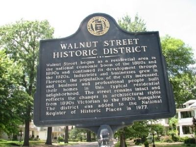Walnut Street Historic District Marker image. Click for full size.