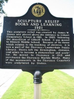 Sculpture Relief Books and Learning 1921 Marker image. Click for full size.