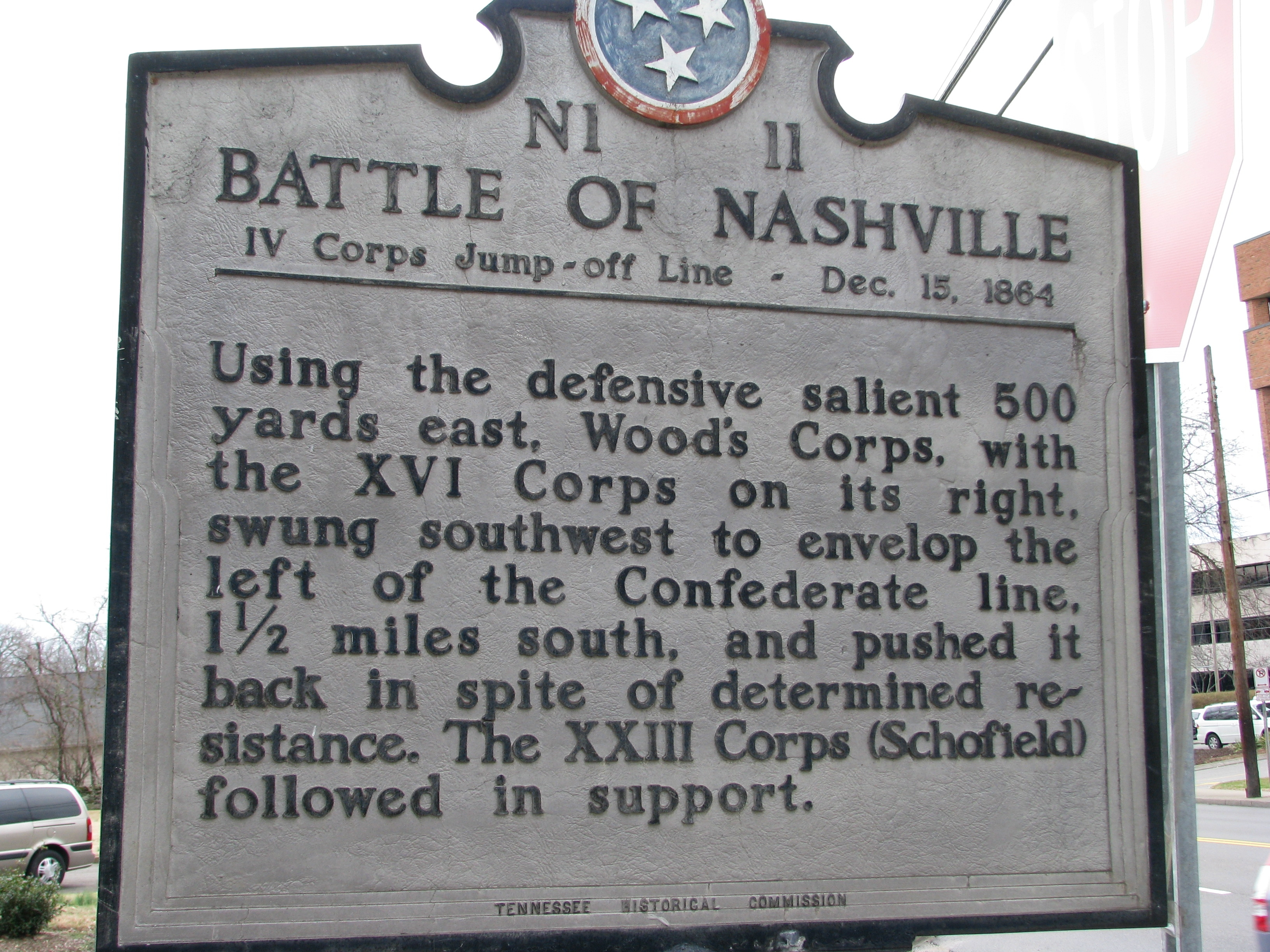 Battle of Nashville Marker