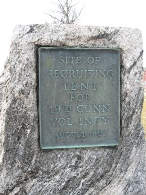 Site of Recruiting Tent Marker image. Click for full size.