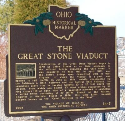 The Great Stone Viaduct Marker image. Click for full size.