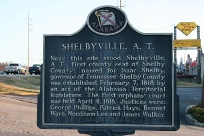 Shelbyville, A. T. Marker image. Click for full size.