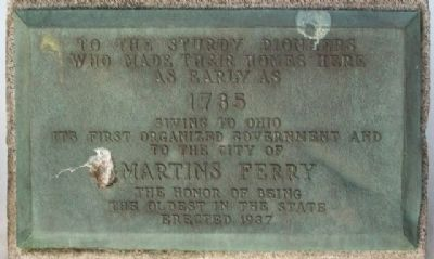 Martins Ferry Pioneers Marker image. Click for full size.