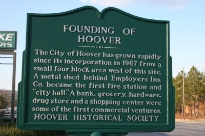 Founding Of Hoover Marker image. Click for full size.