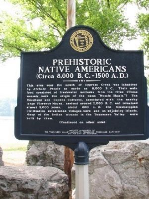 Prehistoric Native Americans Marker - Side A image. Click for full size.