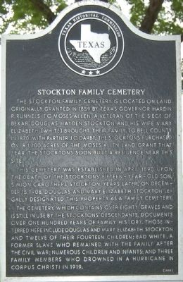 Stockton Family Cemetery Marker image. Click for full size.