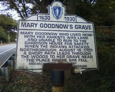 Mary Goodnow's Grave Marker image. Click for full size.