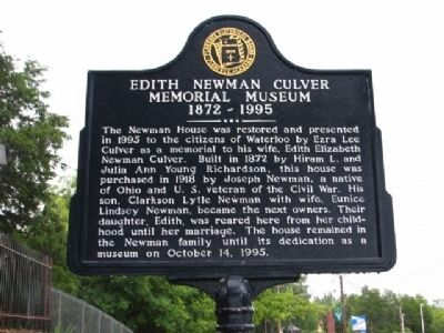 Edith Newman Culver Marker image. Click for full size.