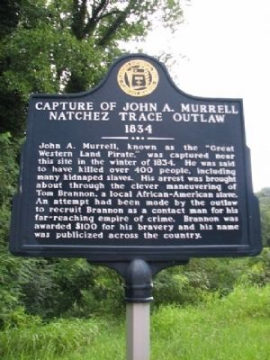 Capture of John A.Murrell Marker image. Click for full size.