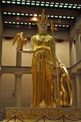 Statue of Athena, Parthenon, Nashville, TN image. Click for full size.