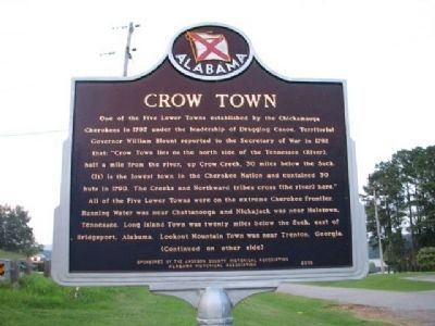 Crow Town Marker - Side A image. Click for full size.