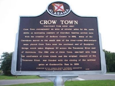 Crow Town Marker - Side B image. Click for full size.