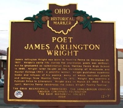 James Arlington Wright Marker (Side B) image. Click for full size.