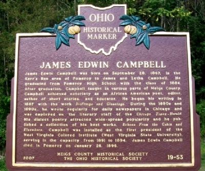 James Edwin Campbell Marker image. Click for full size.