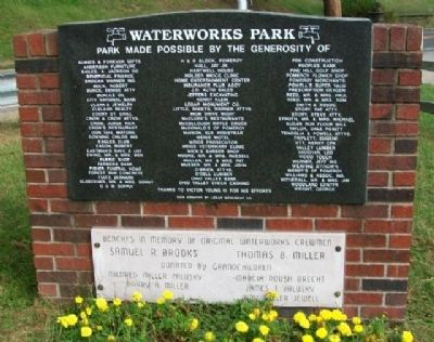Waterworks Park Sponsors image. Click for full size.