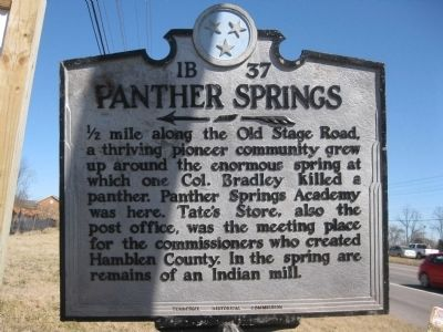 Panther Springs Marker image. Click for full size.