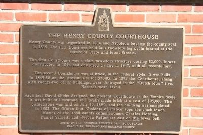 The Henry County Courthouse Marker image. Click for full size.