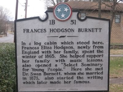 Frances Hodgson Burnett Marker image. Click for full size.