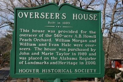 Overseer's House Marker image. Click for full size.