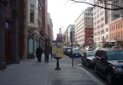 John Wilkes Booth's Escape Marker - F Street at the alley east of 10th image. Click for full size.
