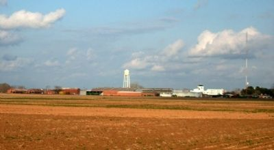 Central State Prison Farm seen across the prison farm fields. image. Click for full size.