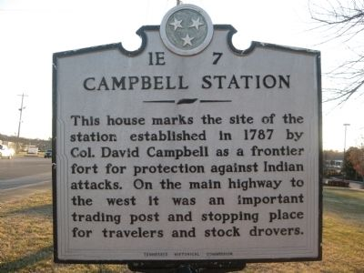 Campbell Station Marker image. Click for full size.