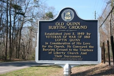 Old Quinn Burying Ground Marker image. Click for full size.